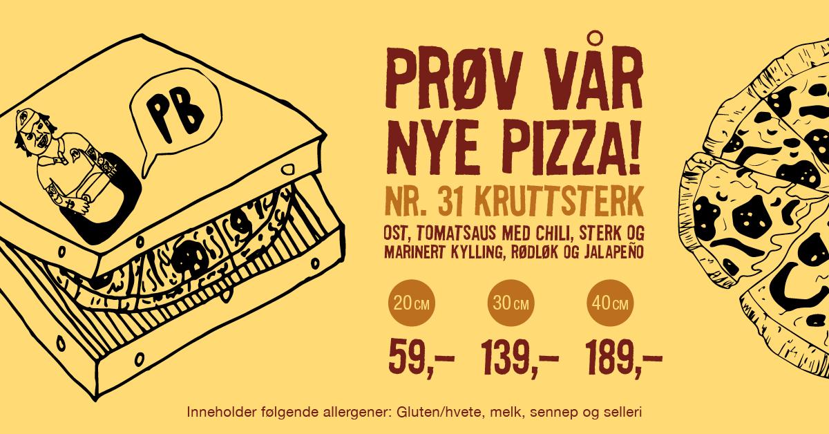 kruttsterk pizza pizzabakeren