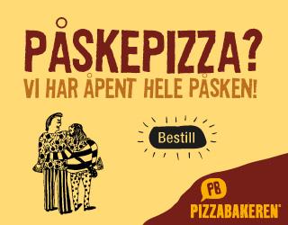 Pizzabakeren har åpent hele påsken!